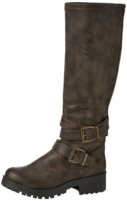 Rocket DogLAINY - Botas y Botines de Motorista de caña Alta sin Forro Mujer, Color Marrón, Talla 36: Amazon.es: Zapatos y complementos