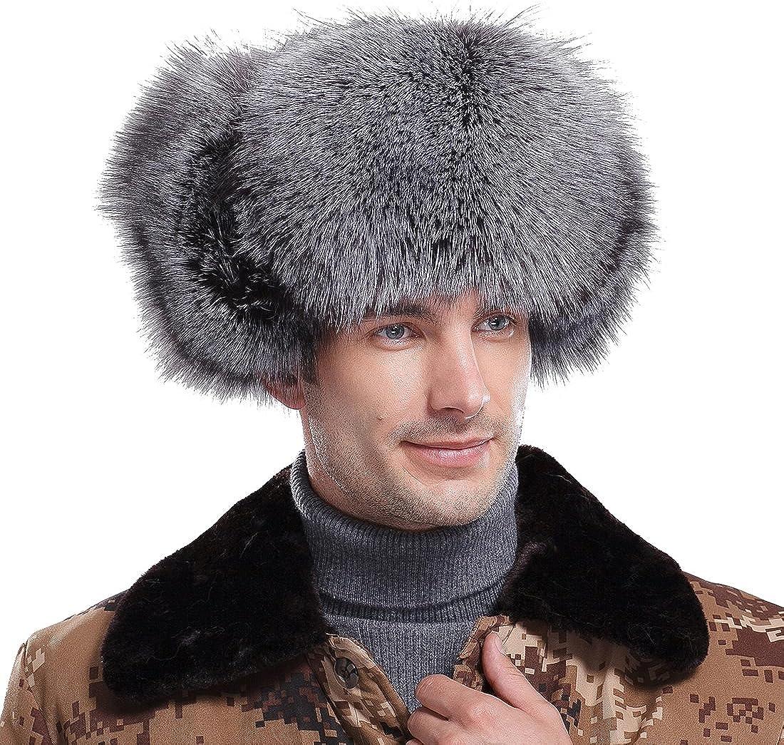 URSFUR Men's Fox Fur...