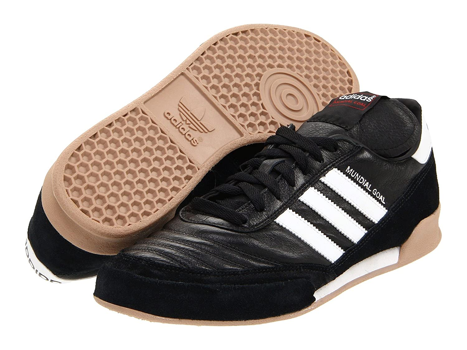 (アディダス) adidas メンズサッカーシューズ靴 Mundial Goal Black/Running White 4.5 (22.5cm) D Medium B07BQL42PK