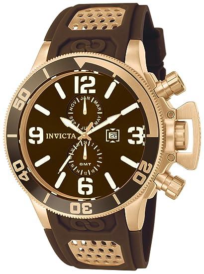 Invicta 10506 Corduba Reloj para Hombre acero inoxidable Cuarzo Esfera marrón: Amazon.es: Relojes