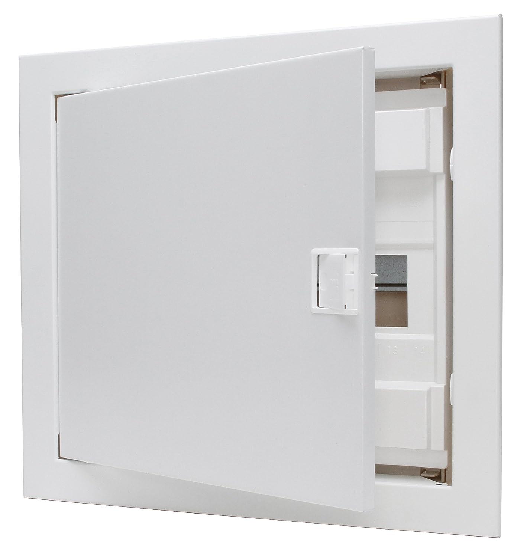 1/Pieza 340511000 Kopp rasante y Paredes Huecas/ para 12/Pole Color Blanco /Caja de distribuci/ón con Puerta de Metal de 1/Fila