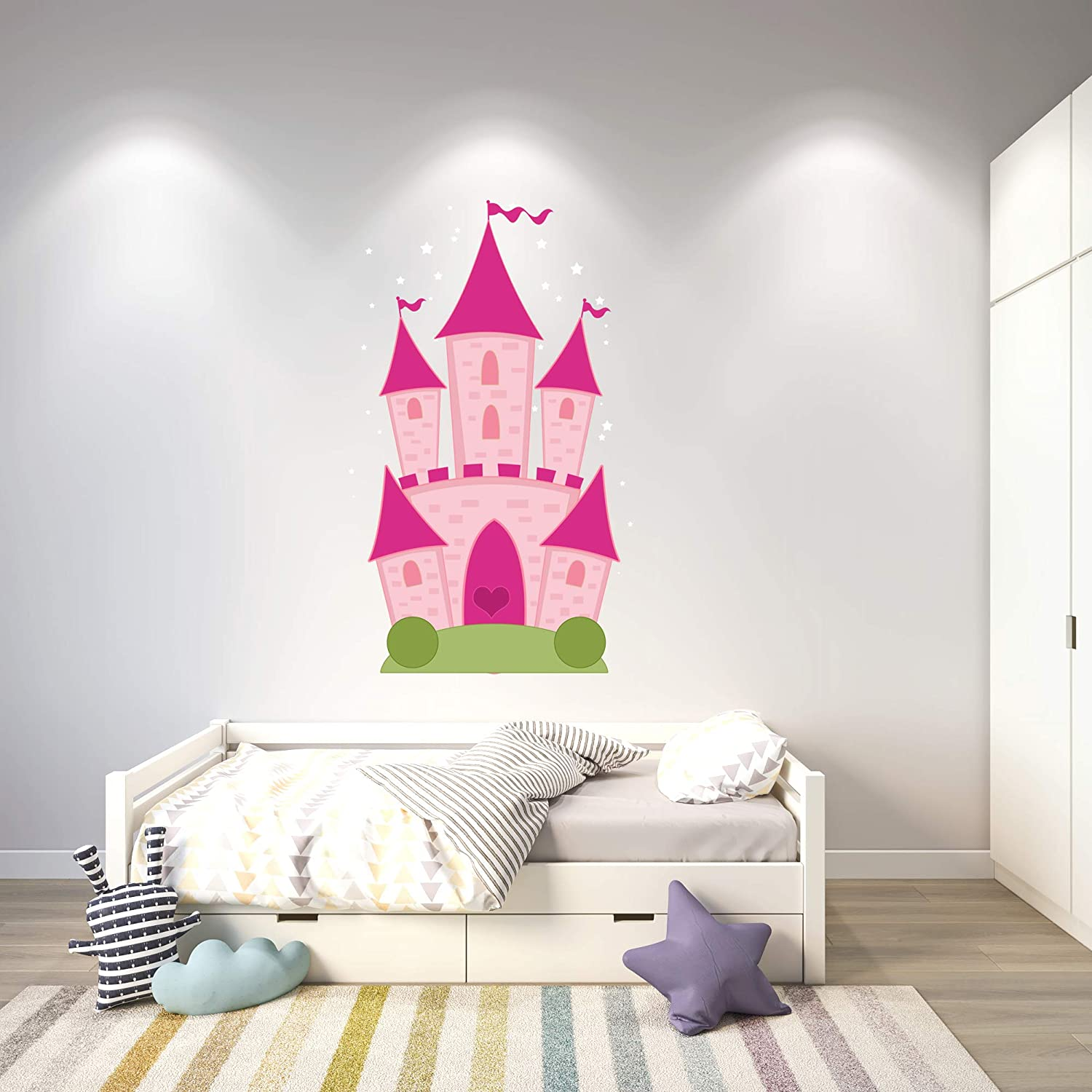 Cartoon Castle Color Wall Sticker for Boys Gerls Room - Nurserie D?cor Design 3