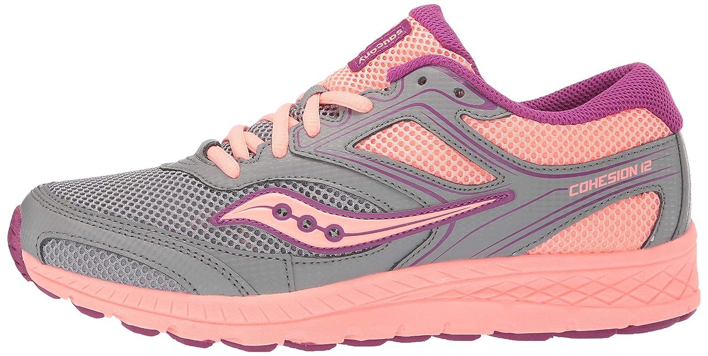 c28e4f61 Amazon.com   Saucony Girls' Cohesion 12 LTT Sneaker Grey/Coral 065 ...