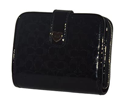 ... a1fa7 ea0f7 Coach Women s Prf Liquid Gloss Zipper Medium Wallet F51678  (BLACK) amazing fba1bc5fa5