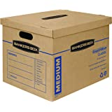 Bankers Box SmoothMove Classic Moving Boxes, Tape-Free Assembly, Easy Carry Handles, Medium, 18 x 15 x 14 Inches, (7717204)
