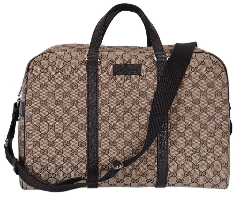 bd4235f8b Amazon.com: Gucci Canvas GG Guccissima Large Boston Travel Duffle  (449167/Beige): Shoes