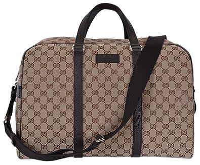 ed7a89ffc995 Amazon.com: Gucci Canvas GG Guccissima Large Boston Travel Duffle  (449167/Beige): Shoes