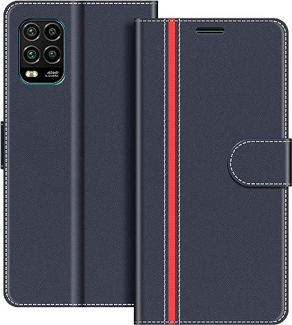 COVER per Xiaomi Mi Note 10 Lite CUSTODIA PORTAFOGLIO Nero Vetro Temperato 9H