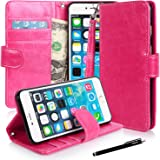 iphone 6s plus/ 6 Plus case, Apple iphone 6s plus/ 6 Plus Flip Case, E LV iphone 6s plus/ 6 Plus Case Cover - Deluxe PU Leather Flip Wallet Case Cover for iphone 6s plus/ 6 Plus 5.5 inch - HOT PINK
