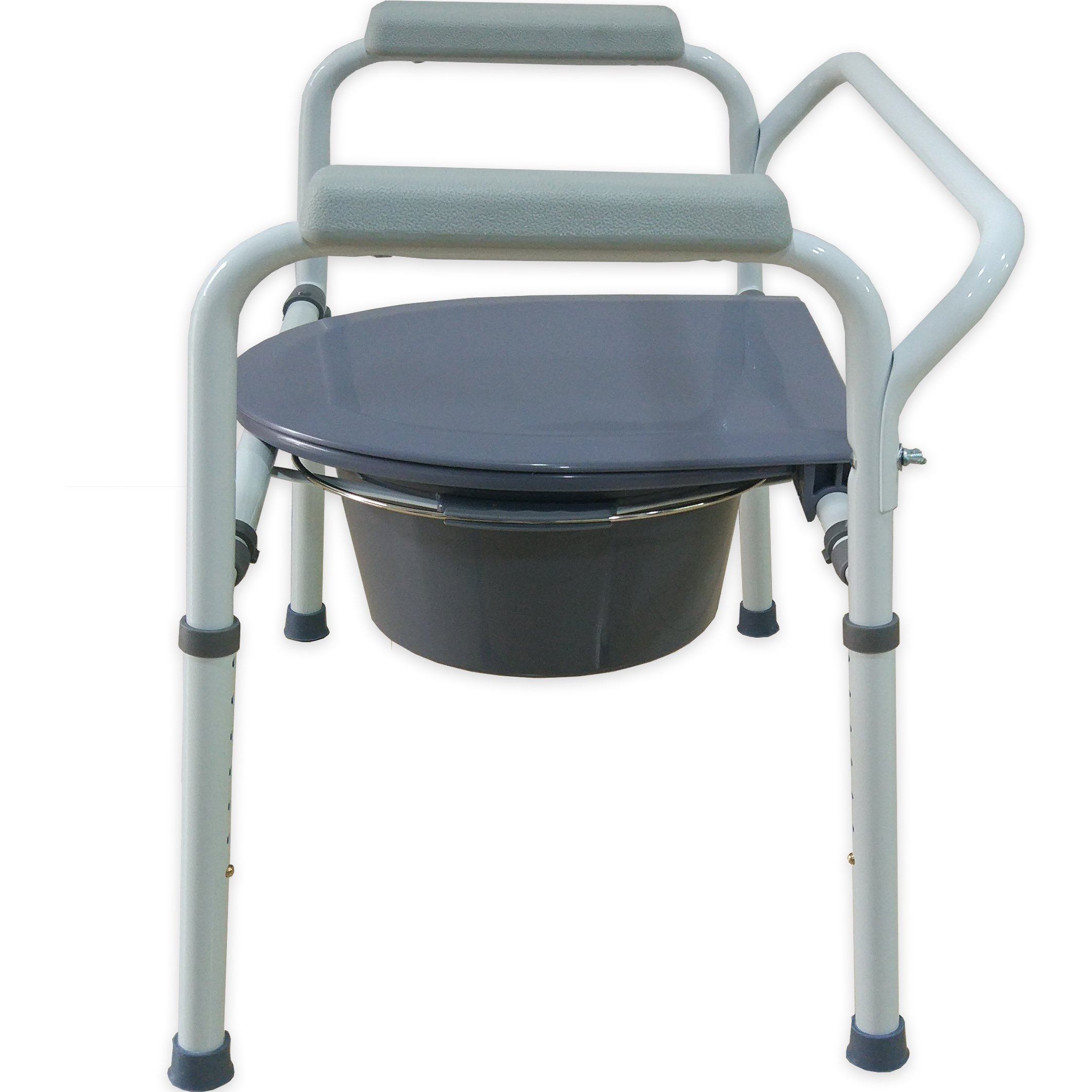 Medokare Bedside Commode Chair - Heavy-Duty Steel Commode Seat, Bedside Potty Chair for Adults, Medical Handicap Toilet Seat with Handles and Bucket by Medokare (Image #4)
