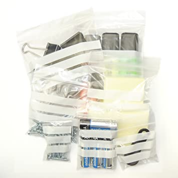 """2,000 x 4/"""" x 5.5/""""  **WHITE PANEL**  Zip Resealable Plastic Grip Seal Bags"""