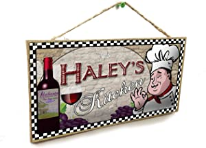 """Blackwater Trading Personalized Custom Your Name's Kitchen Italian Fat Chef Style Wine Sign Plaque 5""""X10"""""""