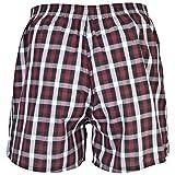 Gildan Men's Woven Boxer Underwear Multipack, Mixed red/Grey, Medium