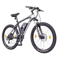 """NCM Prague+ 36V, 26""""/27,5"""" Zoll E-MTB, Mountainbike E-Bike, 250W Bafang Heckmotor, 14Ah 504Wh Akku + Panasonic Li-Ion Zellen, hydraulische Tektro Scheibenbremsen, 24 Gang Schaltung, Designer-Rahmen"""