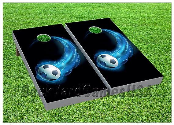 Blue Star Disco Ball Cornhole Boards BEANBAG TOSS GAME w Bags Set 429