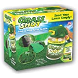 Grass Shot by Bulb Head the Ultimate Home Hydro Seeding System, Liquid Spray Seed Lawn Care