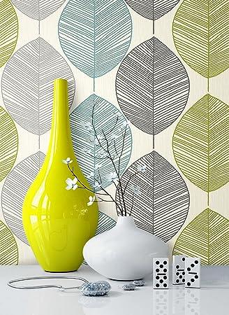 Tapete Natur Modern Blumen Floral | schöne edle Tapete im natürlichen  Design | moderne 3D Optik für Wohnzimmer, Schlafzimmer oder Küche inkl. ...
