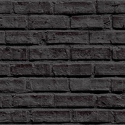 Black Brick Wallpaper Arthouse 623007 Amazoncom