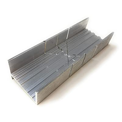 Metal Mitre Box by Excel Blades - Aluminium and Steel Construction - Made in the USA - 6 Inch Small Mitre Box - Metal Mitre Saw With 2 Cutting Angles - Ideal For Cutting Wood and Soft Metals: Home & Kitchen