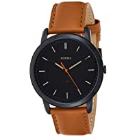 Men's Minimalist Stainless Steel and Leather Slim Casual Quartz Watch