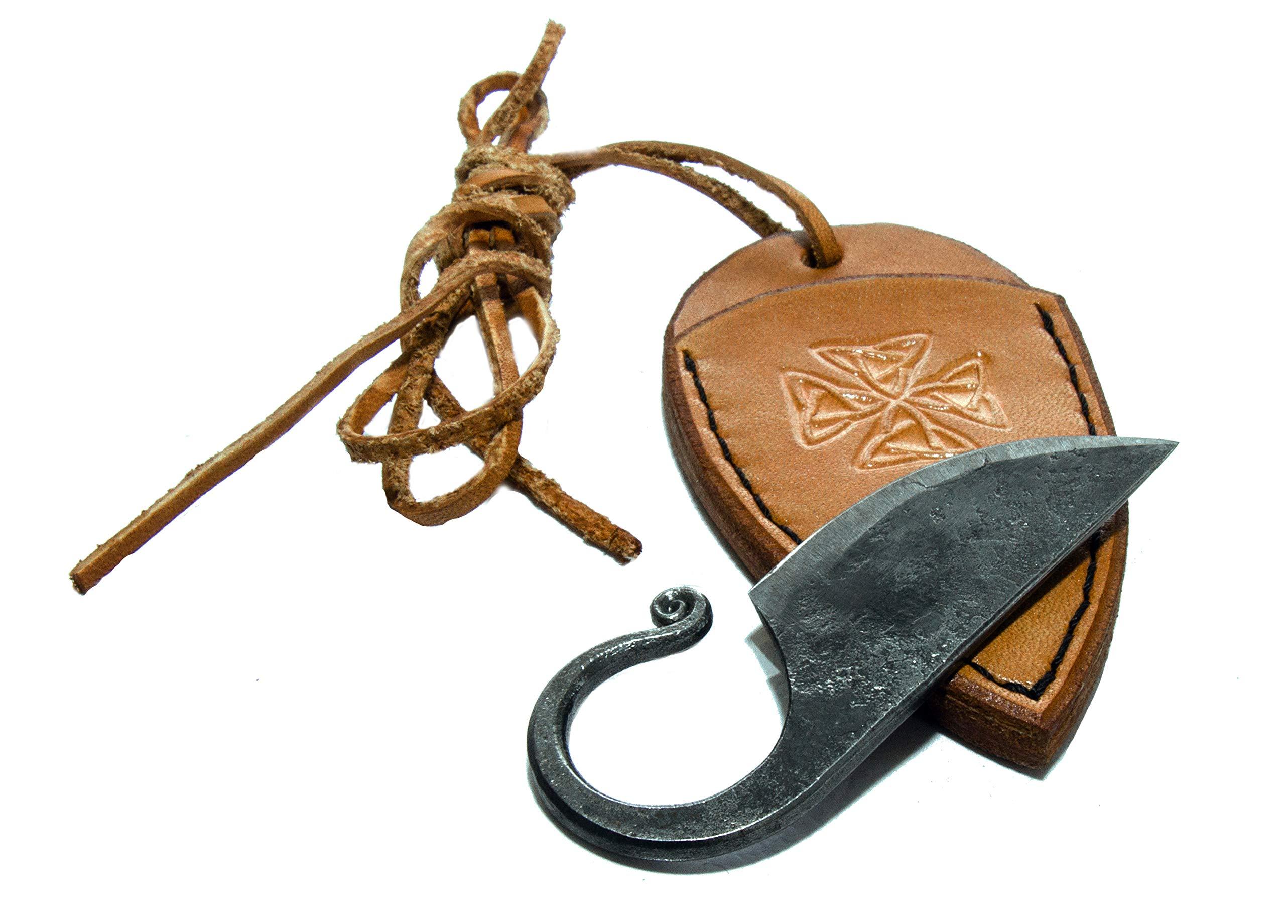 Original Gift, Celtic Pocket Knife, Hand Forged Knife.Hardened Blade. By Toferner. by Toferner