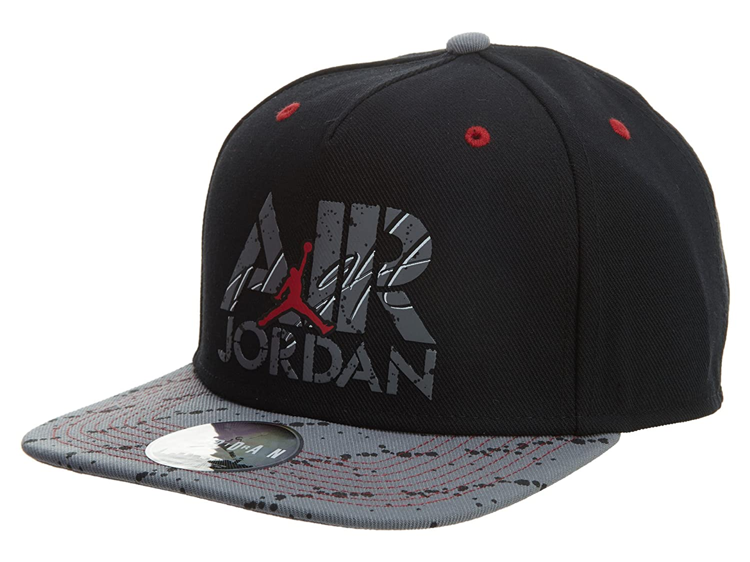 a8e2f106b295d Air Jordan Stencil Snapback Cap - Black/Cool Grey/White/Gym Red One Size  One Size: Amazon.co.uk: Sports & Outdoors