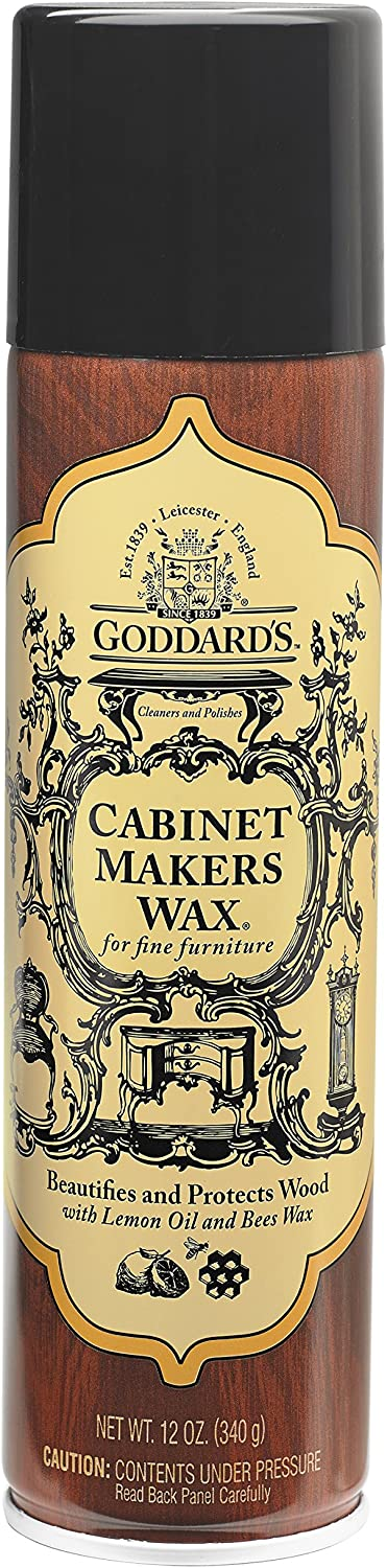 Goddard's Cabinet Makers Fine Aerosol Wax Spray Can - for Wood Furniture - 12 oz.