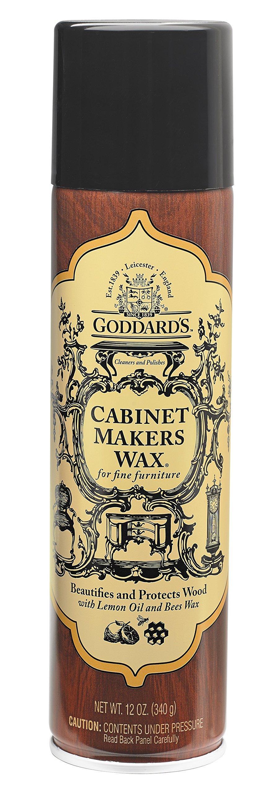 Goddard's Cabinet Makers Fine Aerosol Wax Spray Can - for Wood Furniture - 12 oz.