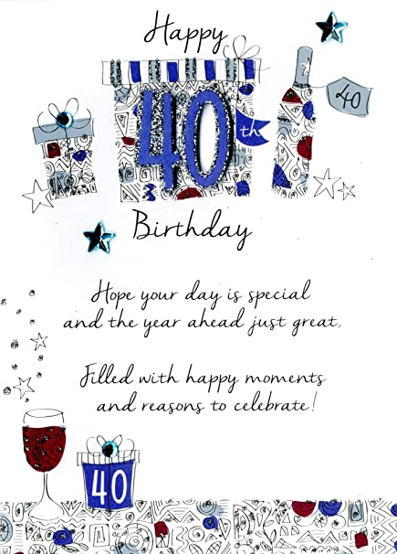 Amazon.: Male 40th Birthday Greeting Card Second Nature Just