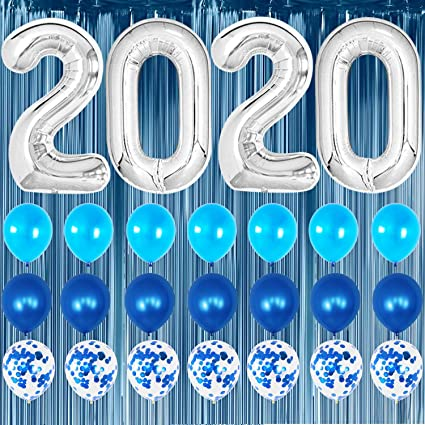 Decal Sticker Multiple Sizes Its Party Time Celebrate New Year Holidays and Occasions Happy New Year Party Celebration Outdoor Store Sign Blue