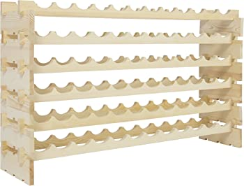 Best Choice Products 6-Tier 72 Bottles Stackable Storage Wood Wine Rack