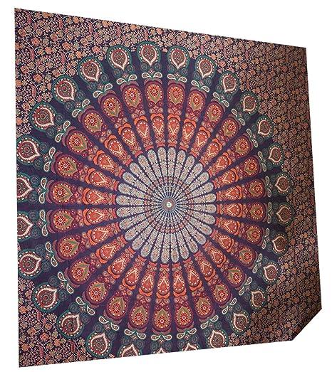Tapisserie Murale Tenture Indienne Mandala Tapis Mural Indien Boheme