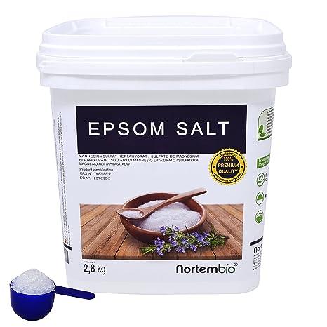 Sal de Epsom NortemBio 2,8kg, Fuente concentrada de Magnesio, Sales 100%