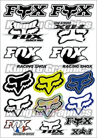 7.2X 10.2 inch 16 Kungfu Graphics Micro Sponsor Logo Racing Sticker Sheet Universal MSS White