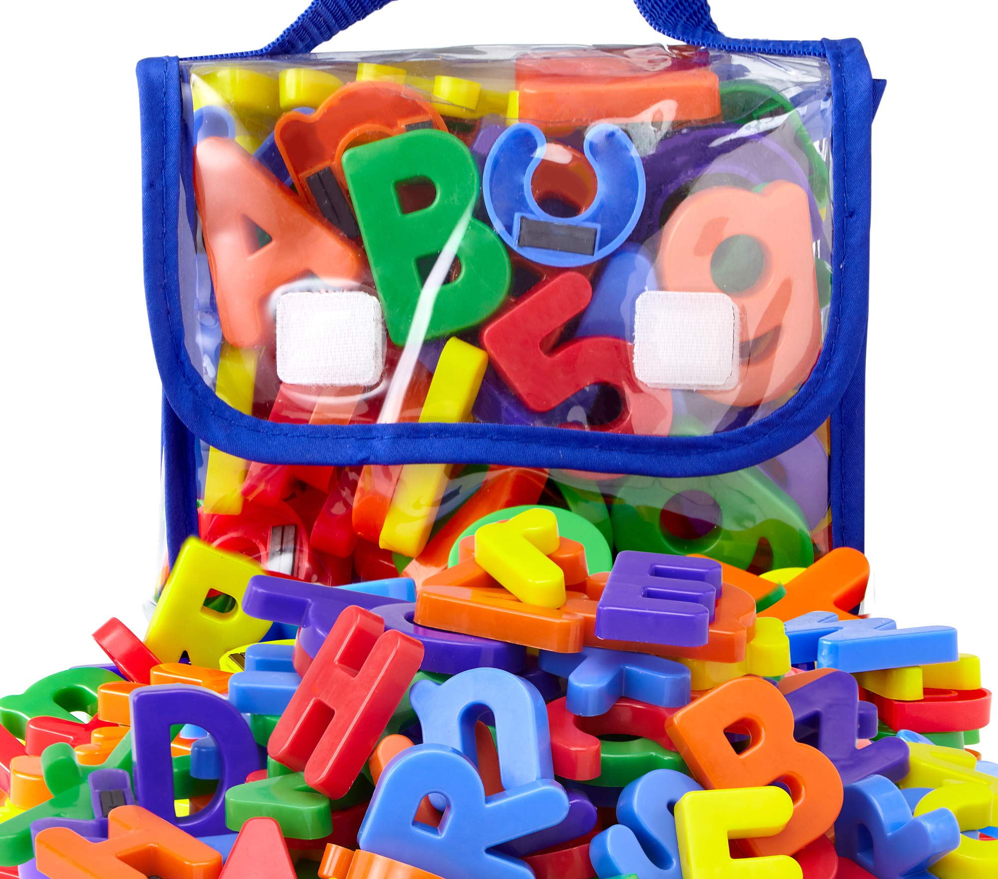 EduKid Toys 72 Magnetic Letters & Numbers (Tote) 1.25'' - 1.75'' (72 ABC Alphabet Magnet Letter) by EduKid Toys