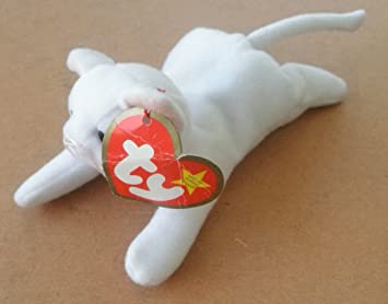 d23af3a2e02 Image Unavailable. Image not available for. Color  TY Teenie Beanie Babies  Flip the White Cat Stuffed Animal Plush Toy ...