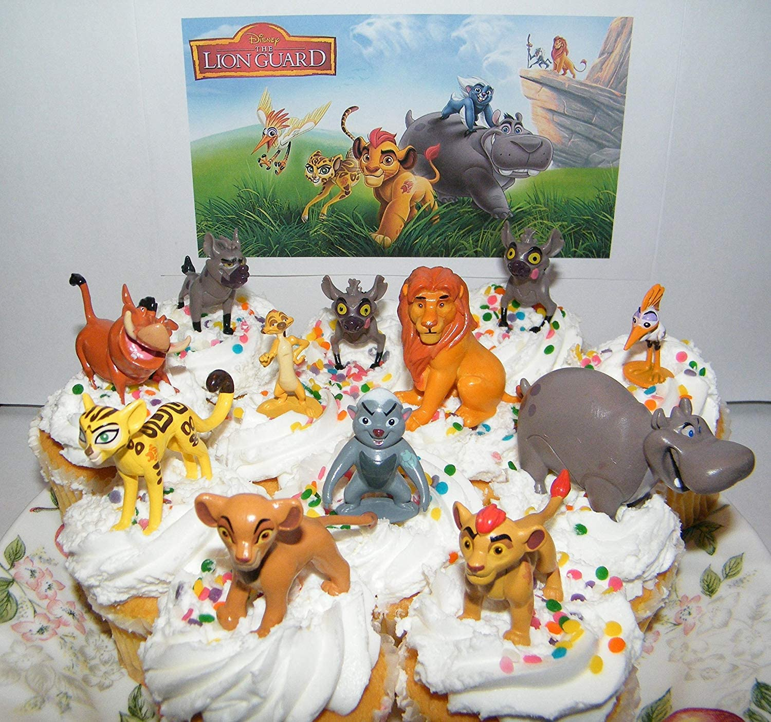 Disney The Lion Guard Deluxe Mini Cake Toppers Cupcake Decorations Set Of 13 Figures With The 5 Lion Guard Figures King Simba Simon Pumon And More By The Lion Guard Amazon Ca Toys