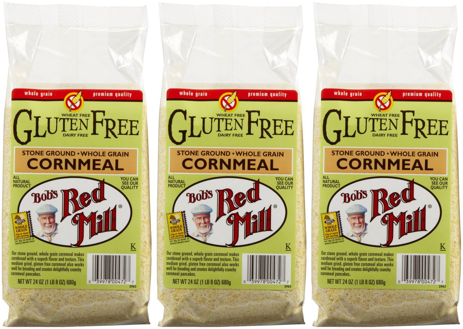 Bob's Red Mill Gluten Free Cornmeal - 24 oz - 3 Pack