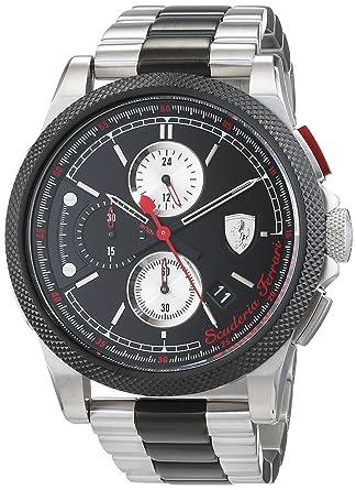 Ferrari En Acier Scuderia Montres Bracelet 0830329 Inoxydable Plaqué Chronographe Homme Quartz Avec wyv8OmNn0