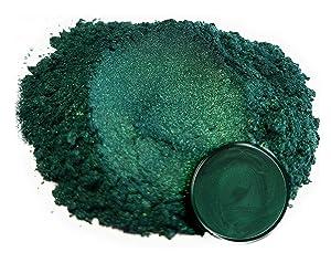 "Eye Candy Mica Powder Pigment ""Dark Ocean Green"" (50g) Multipurpose DIY Arts and Crafts Additive   Natural Bath Bombs, Resin, Paint, Epoxy, Soap, Nail Polish, Lip Balm"
