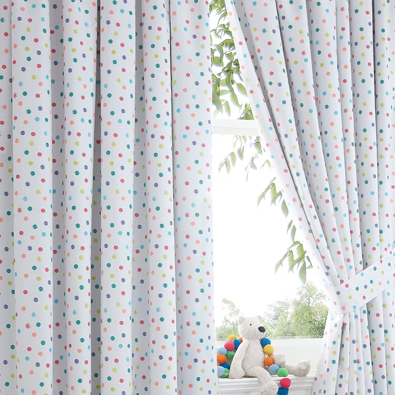 Debenhams Bluezoo Spotty Curtains 168Cm X 183Cm Drop Bluezoo Amazoncouk