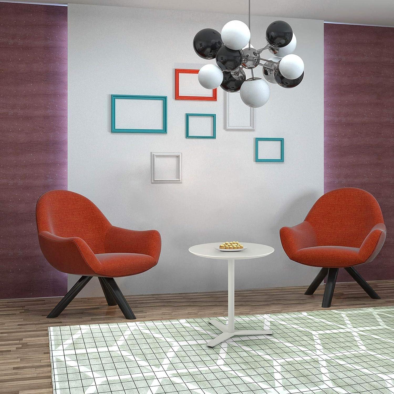 Tomile Mesa auxiliar para sof/á mesa auxiliar para patio para ordenador port/átil mesa de centro redonda moderna /φ19,68 x 21,65 h, color blanco en forma de T