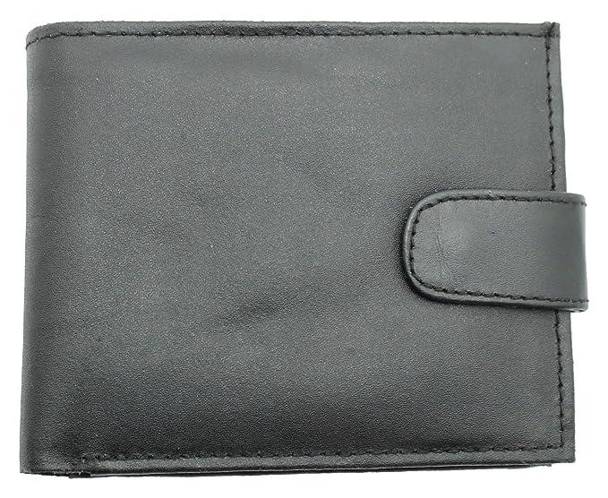 Cartera de Piel con Bolsillo para Monedas y Cadena de Metal de Seguridad para Hombre de RAS, Modelo 06: Amazon.es: Ropa y accesorios