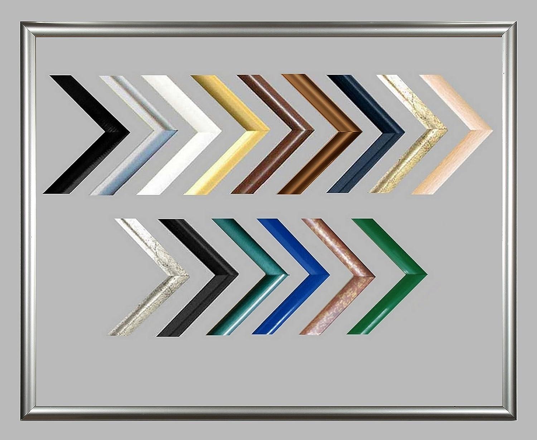 Biggy Kunststoff Bilderrahmen 60x140 cm 140x60 cm Farbauswahl  hier Weiss viele Größen mit spiegelfreiem Acrylglas