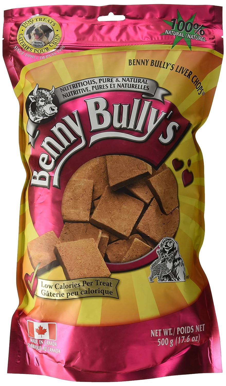 Bulk Benny Bullys 776310042275 Chops Beef Liver Dog Treats, 500g, Bulk