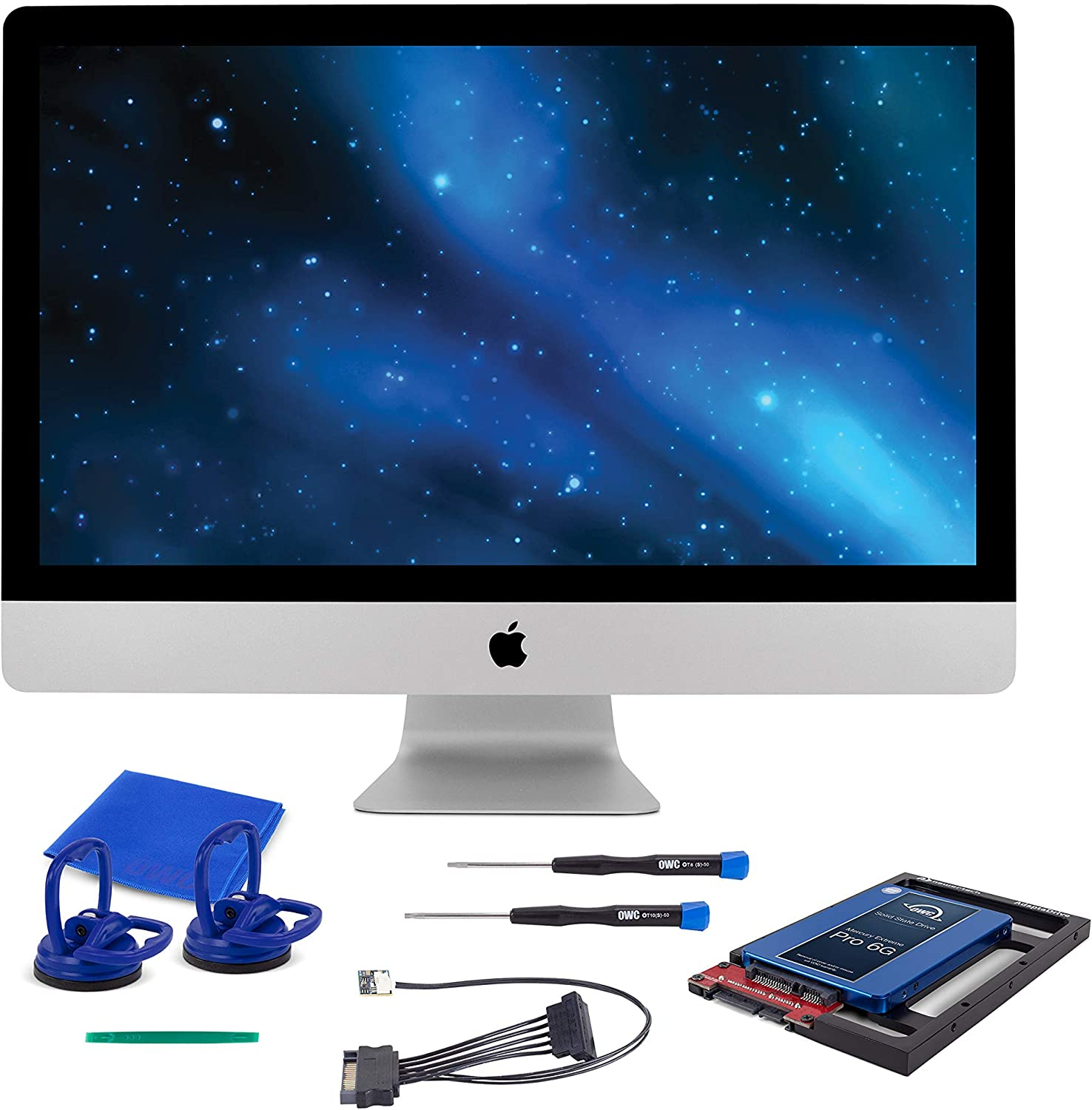 """OWC SSD Upgrade Bundle for 2011 iMacs, OWC Mercury Electra 250GB 6G SSD, AdaptaDrive 2.5"""" to 3.5"""" Drive Converter Bracket, in-line Digital Thermal Sensor Cable, Installation Tools, (OWCKITIM11HE250)"""