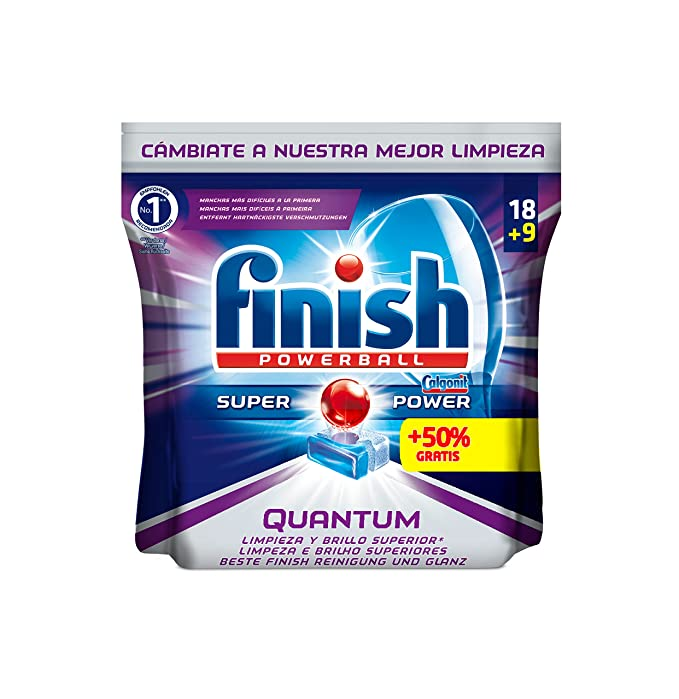 Finish Quantum Regular Pastillas para Lavavajillas - 18 + 9 pastillas: Amazon.es: Amazon Pantry
