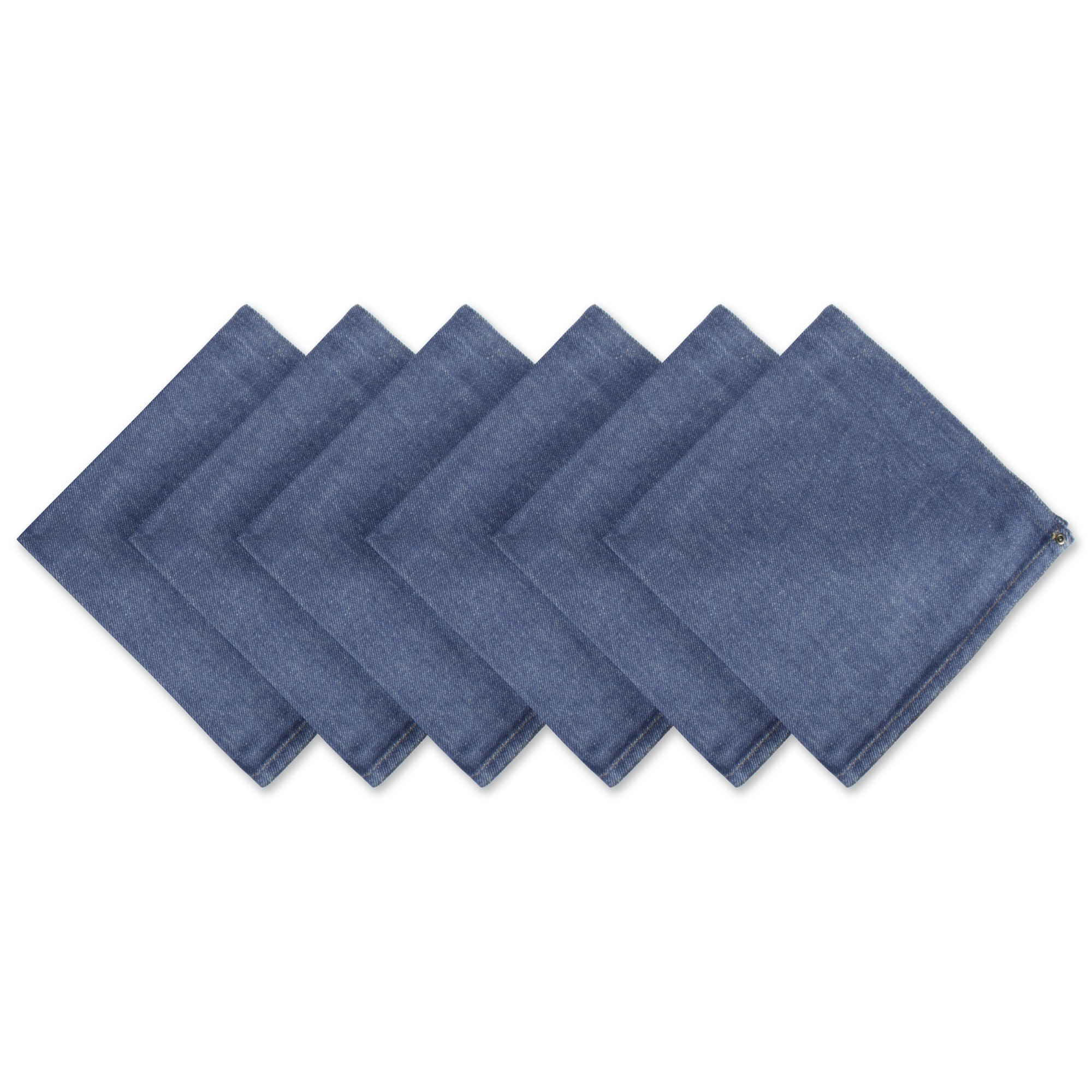 DII 100% Cotton Cloth Napkins, Oversized 20x20'' Dinner Napkins, For Basic Everyday Use, Banquets, Weddings, Events, or Family Gatherings - Set of 6, Denim by DII (Image #1)