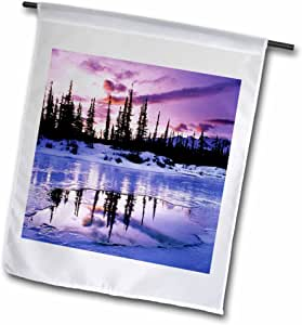 Florene America The Beautiful - Alaskan Purple Sunset - 18 x 27 inch Garden Flag (fl_57581_2)