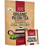 Organic Puerh Tea - Premium Quality Fermented Pu erh Tea - Energizing, Detoxifying & Delicious - Aged Black Yunnan Tea - 20 Teabags (2 grams per serving)